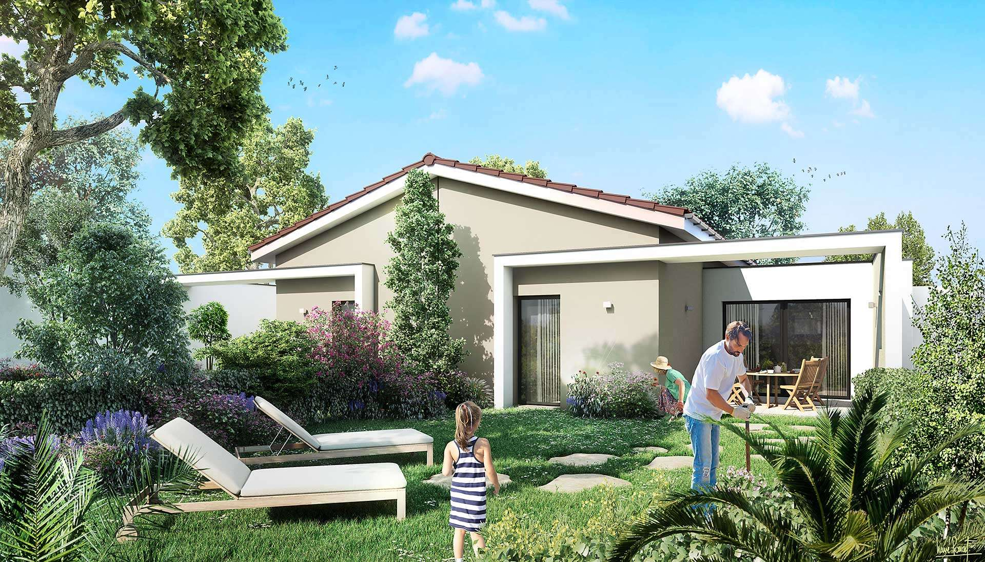Maison Neuve Anneyron 1